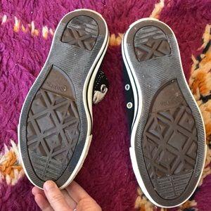 Converse Shoes - Black Painted Laces (Laceless) Converse